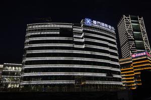厦门国际银行楼顶发光字制作
